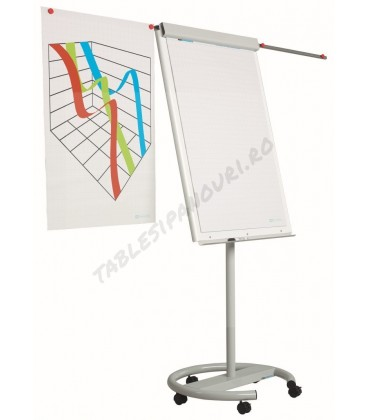 Flipchart magnetic mobil, cu brate laterale, 105x70 cm, SMIT Vario