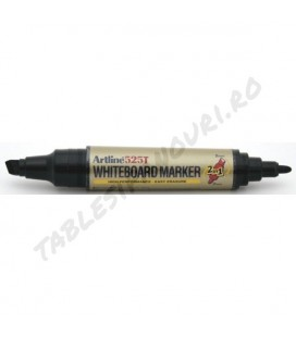 Marker tabla whiteboard, (2 in 1) cu varf gros - tesit/rotund, ARTLINE 525T