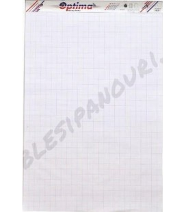 Rezerva hartie flipchart, 50 coli/top, (cu microperforatii), OPTIMA
