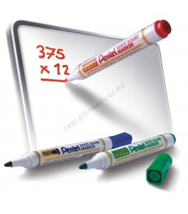 Marker tabla whiteboard, varf rotund, PENTEL MW85