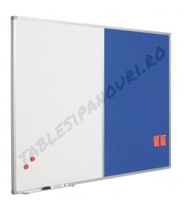Tabla combi (whiteboard/ textil) SMIT, 90x120 cm