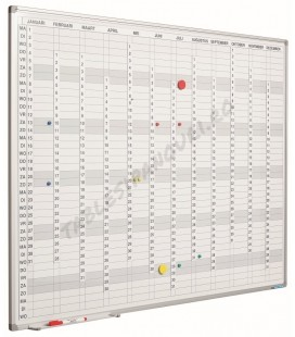 Planner magnetic anual vertical SMIT, 90x120cm